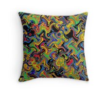 Primary & Secondary Color Design 2Q Throw Pillow
