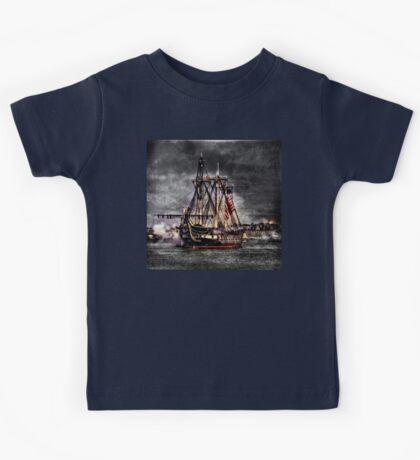 World's oldest commissioned warship afloat - USS CONSTITUTION Kids Tee