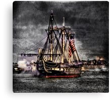 World's oldest commissioned warship afloat - USS CONSTITUTION Canvas Print
