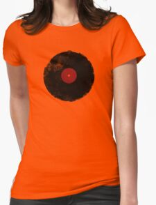 Grunge Vinyl Record Womens Fitted T-Shirt