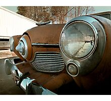 Abandoned Studebaker Commander Photographic Print