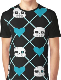 A Sans Heart Pattern Graphic T-Shirt