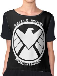 S.H.I.E.L.D. Academy Operations Division (white) Chiffon Top