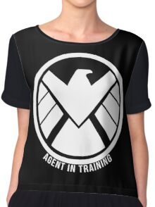 Agent In Training (White) Chiffon Top