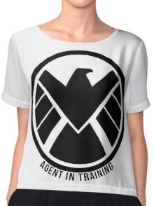 Agent In Training (Black) Chiffon Top