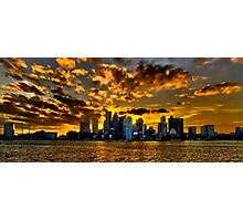 Sunset over Boston Harbor Photographic Print