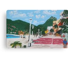 Boardwalk in Philipsburg, St. Maarten Canvas Print