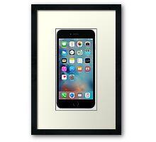 iphone 6 black front Framed Print