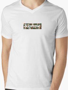 Supreme x Bape Box Logo Camo Mens V-Neck T-Shirt