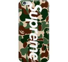 Supreme x Bape Box Logo Camo iPhone Case/Skin
