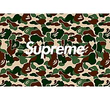 Supreme x Bape Box Logo Camo Photographic Print