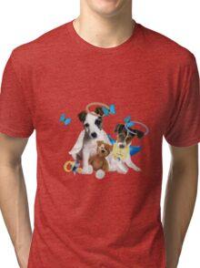 Jack Russell Terrier Puppy Love Tri-blend T-Shirt