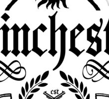 Winchester and sons (black/white version) Sticker