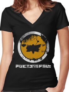 Poets Of The Fall Logo Women's Fitted V-Neck T-Shirt