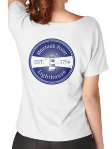 Montauk Point, Lighthouse Women's Relaxed Fit T-Shirt