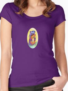 Groundhog drawing - 2011 Women's Fitted Scoop T-Shirt