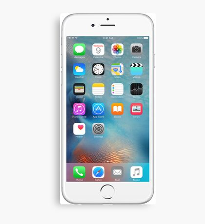 iphone 6 white front  Canvas Print