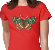 Emerald Butterfly Womens Fitted T-Shirt