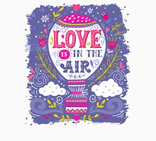 Love is in the air | Hot air balloon Womens Fitted T-Shirt