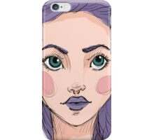 Sexy indie girl iPhone Case/Skin