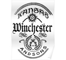 Winchester and sons (black version) Poster