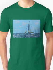 Caribbean sailboat Unisex T-Shirt