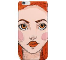 Sexy ginger girl  iPhone Case/Skin