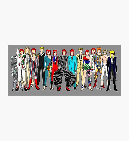 Group Bowie Fashion Photographic Print