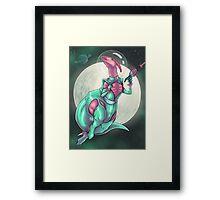 Parasaurolophus: Queen of the Galaxy Framed Print
