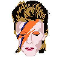8-bit Bowie <3 Photographic Print