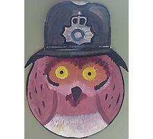 Police Owl Photographic Print