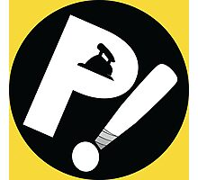 P! (FLCL moped sticker) Photographic Print