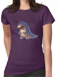 Cute Baby Pangolin  Womens Fitted T-Shirt
