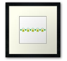 Beer in a glass and diamonds pinstripe tartan Framed Print
