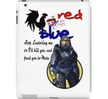Red Vs Blue iPad Case/Skin