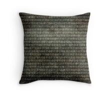 Binary Code - Distressed textured version Throw Pillow
