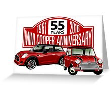 Mini Cooper 55 years anniversary Greeting Card