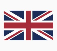 UK Union Jack ensign flag - Authentic version (Duvet, Print on Red background)  One Piece - Short Sleeve