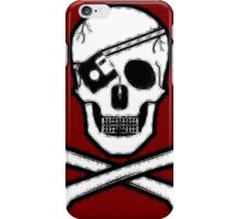 Crimson Hacker Skull Very Large High Quality iPhone Case/Skin