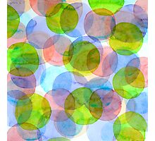 Green Red Blue Circles Photographic Print