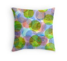 Green Red Blue Circles Throw Pillow