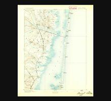 USGS TOPO Map New Jersey NJ Barnegat 255107 1893 62500 Unisex T-Shirt