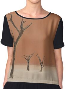 Dead valley in Namibia Chiffon Top