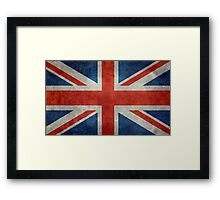British Union Jack flag Vintage version, scale 3:5 Framed Print