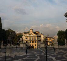 Michelangelo's Wonderful Square - Piazza del Campidoglio, Rome Sticker