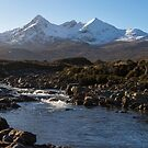 River Sligachan and the Black Cuillin Mountains by derekbeattie