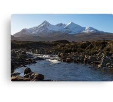 River Sligachan and the Black Cuillin Mountains Canvas Print