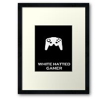 White Hatted Gamer Merch Framed Print