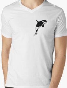 Killer Whale Mens V-Neck T-Shirt