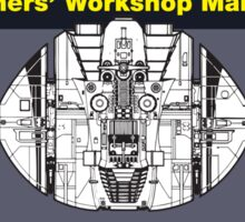 Haynes Manual - Cylon raider - Poster and stickers Sticker